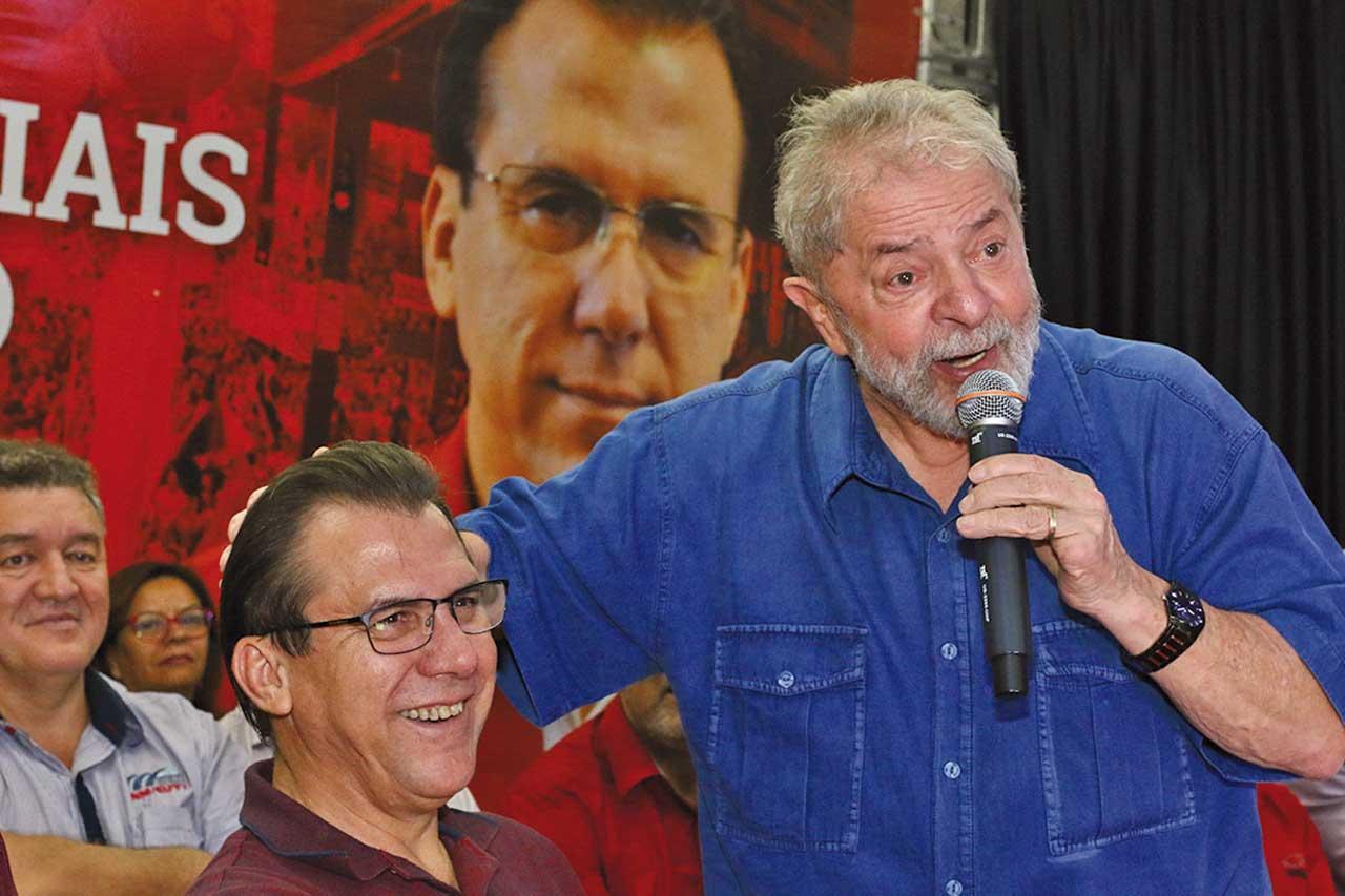 Ex-prefeito Luiz Marinho e ex-presidente Lula, ambos do PT