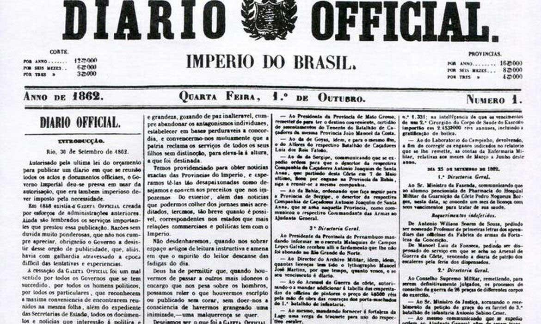 Primeira Edição de 1º de outubro de 1862