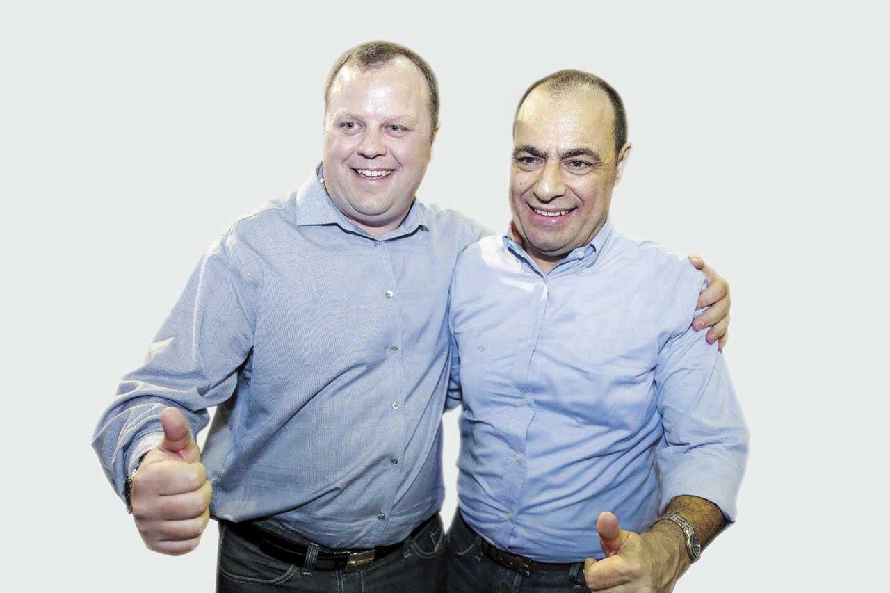 Prefeito de São Caetano, José Auricchio Junior (PSDB), e do vice, Beto Vidoski (PSDB)