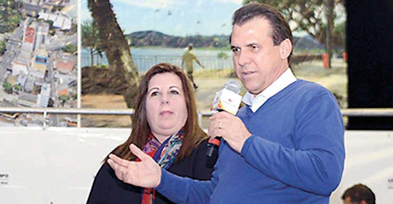 Cleuza Reupulho e o ex-prefeito Luiz Marinho, PT
