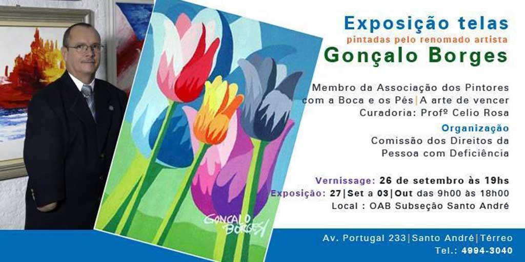 Exposição de telas pintadas pelo renomado artista Gonçalo Borges