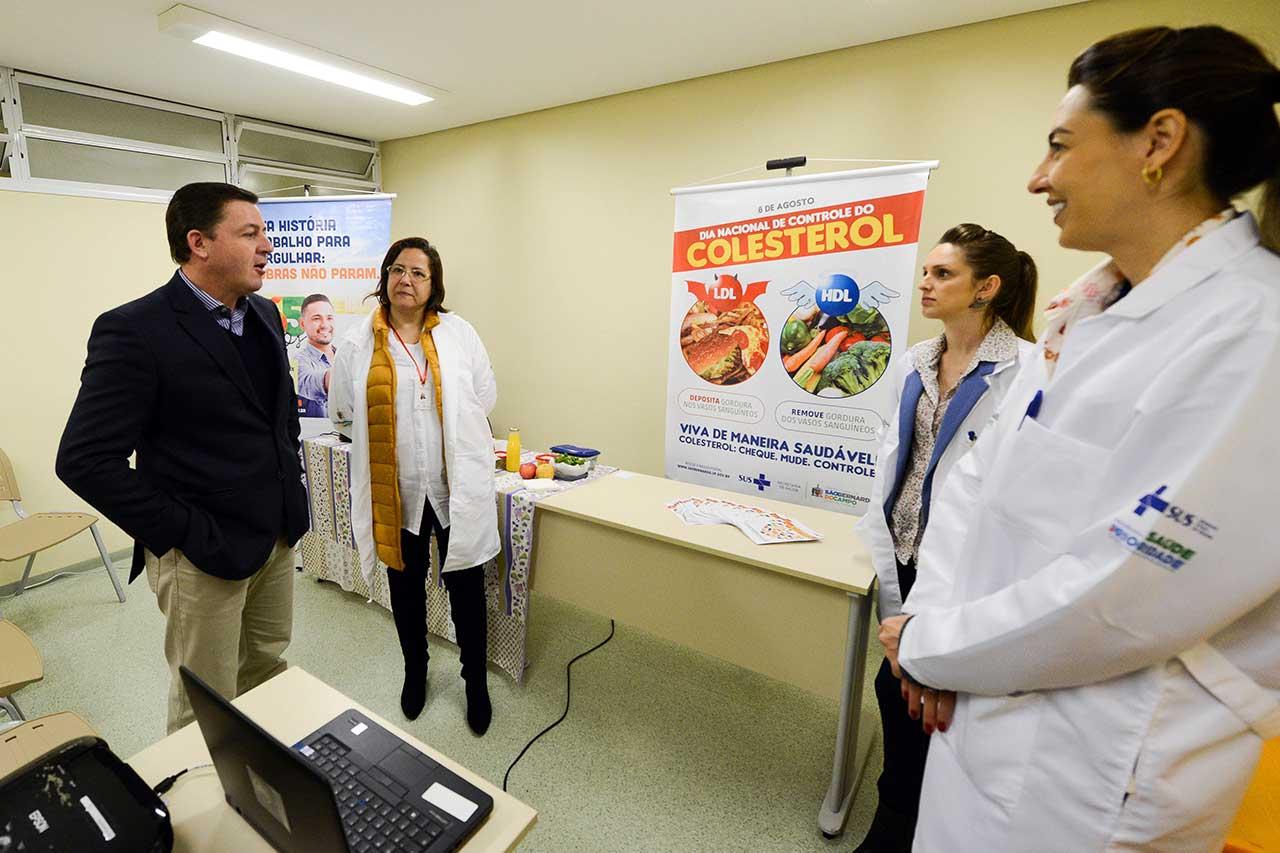 Oficinas culinárias, rodas de conversa e bate papo com nutricionistas foram realizadas na Policlínica Centro; prefeito de São Bernardo, Orlando Morando, participou das ações