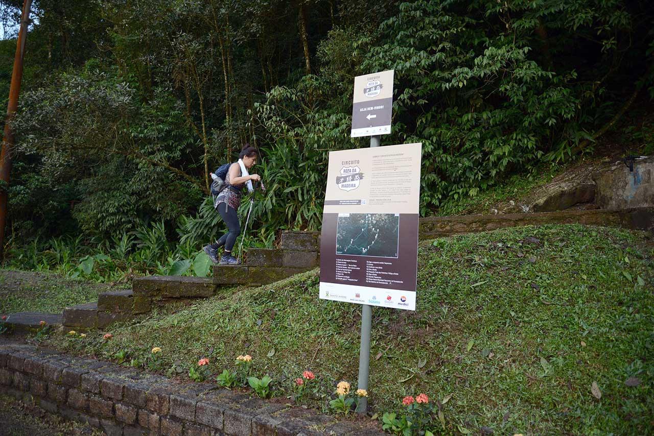 Trajeto de 34 km, com início no Locobreque, na parte baixa da vila, é indicado para caminhadas e mountain bikes