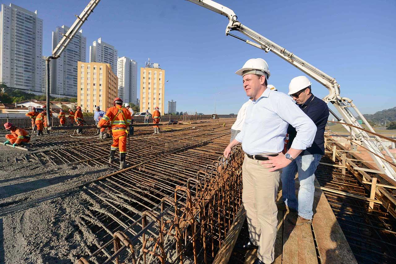 Construção da nova via no Km 20,7 da Rodovia Anchieta está inserida no corredor Leste-Oeste