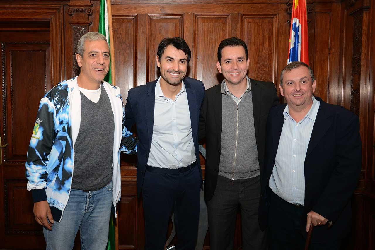 Prefeito Paulo Serra esteve na Secretaria de Esporte, Lazer e Juventude do Estado de São Paulo para oficializar cidade como anfitriã da competição esportiva no mês de julho