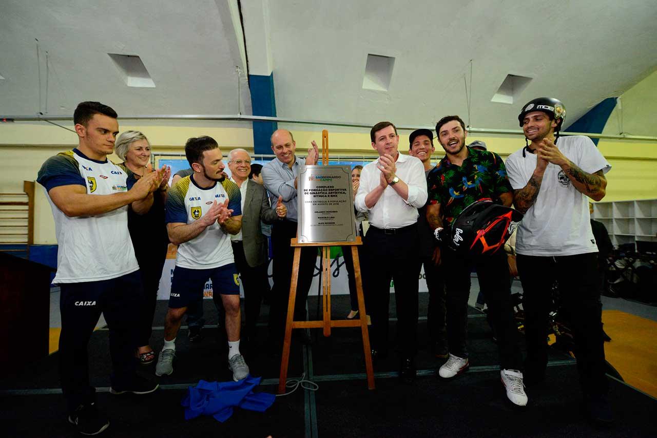 Espaço foi inaugurado dentro do Complexo de Formação Esportiva, que também abrigará desenvolvimento de novos atletas para ginástica artística e rítmica