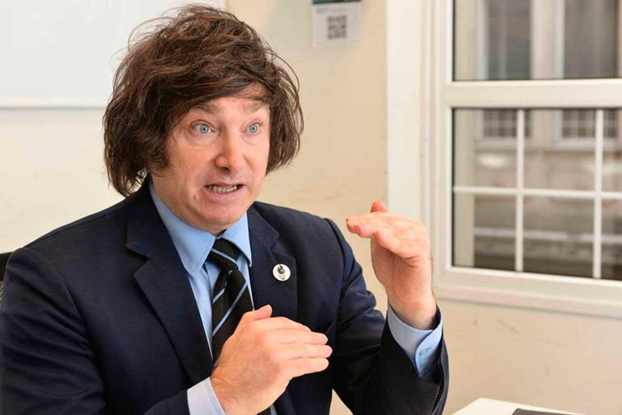 O economista argentino e candidato a deputado Javier Milei