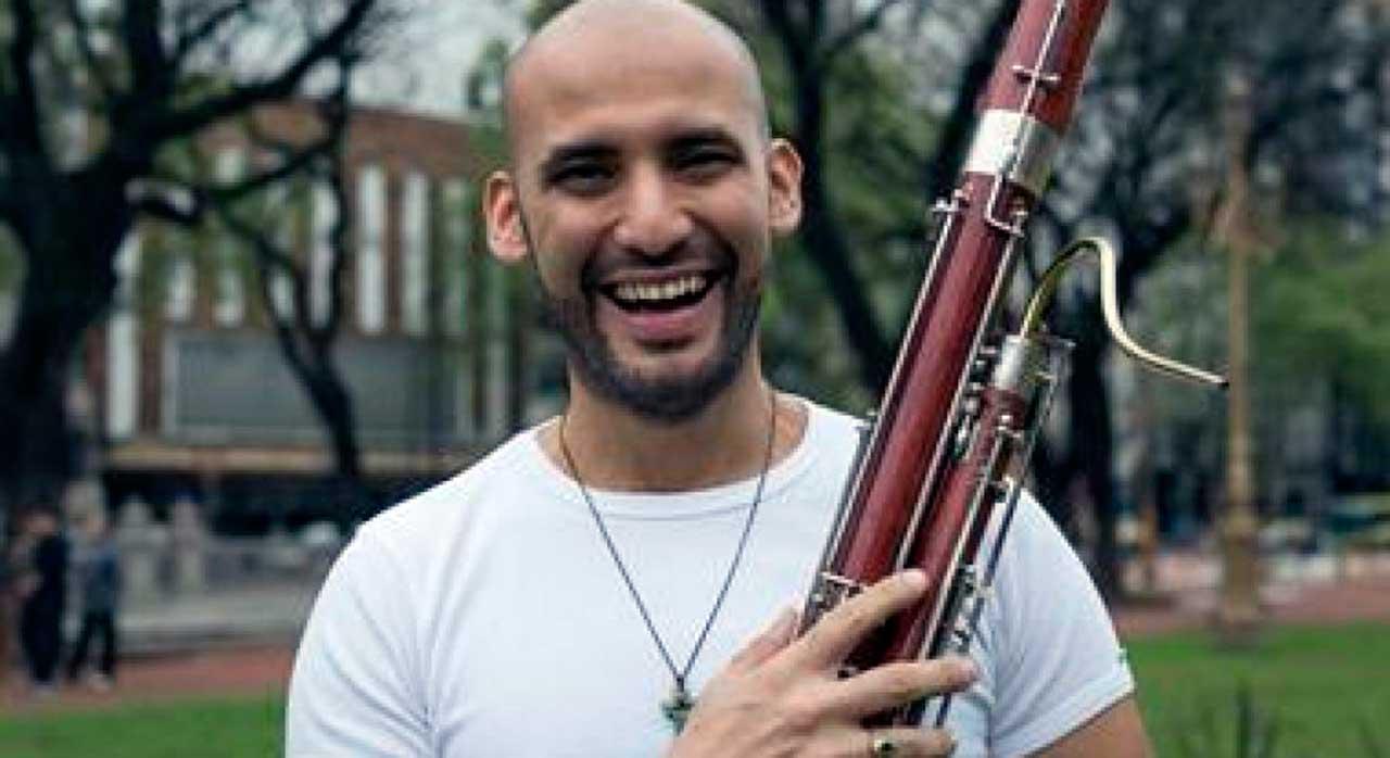 Saxofonista e também músico de fagote, César Pérez