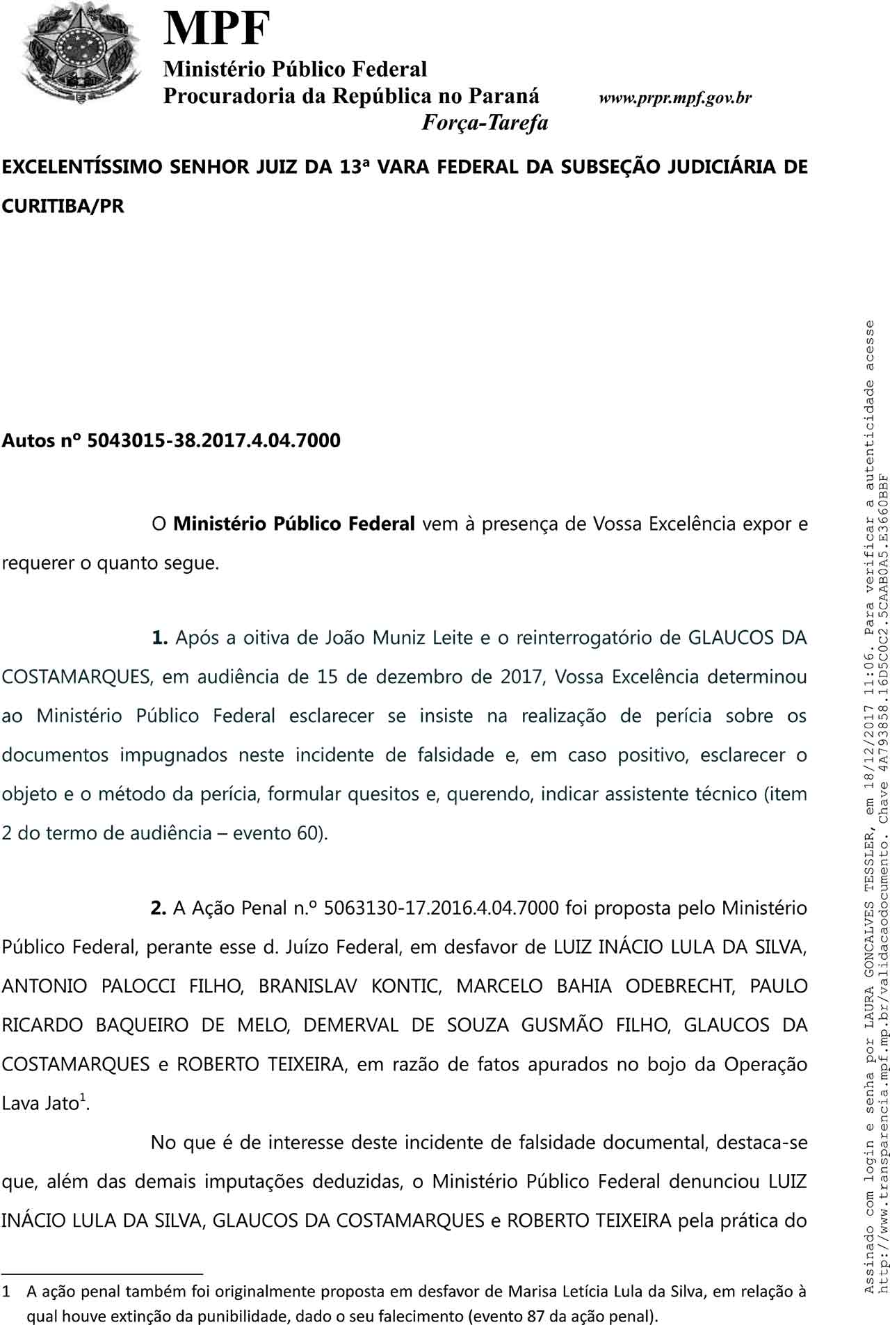 MPF Lula recibos