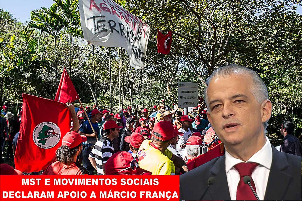 Márcio França, PSB, recebe o apoio dos movimentos de esquerda no segundo turno das eleições de 2018 para o governo paulista