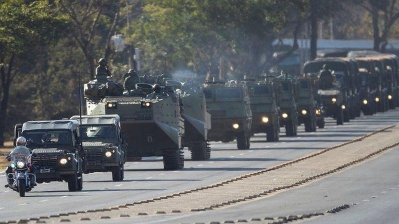 Desfile militar em Brasília
