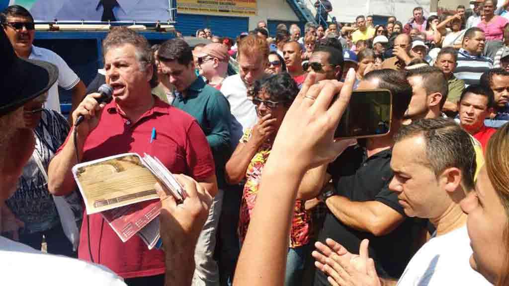 Alex Manente, PPS, e o vereador Toninho da Lanchonete, PT