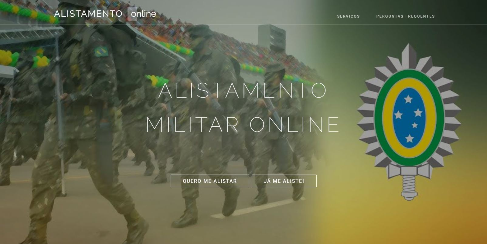 Site Alistamento Militar