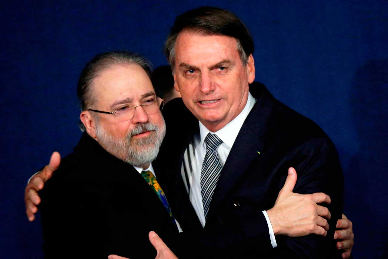 Augusto Aras (PGR) e o presidente Jair Bolsonaro