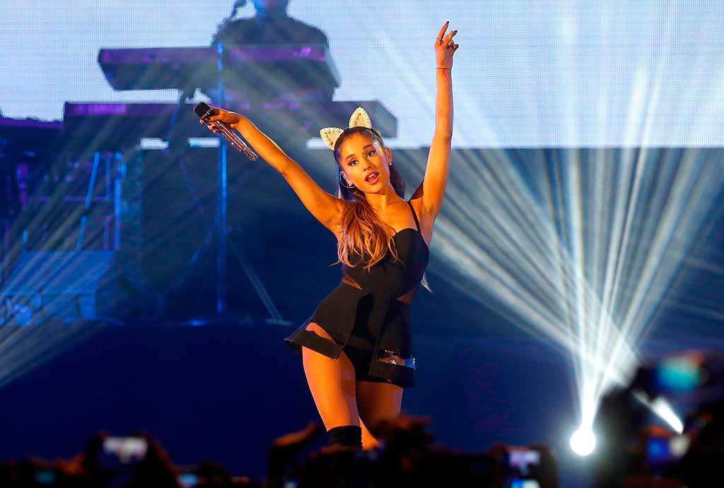 Ariana Grande se apresentará junto com os músicos Justin Bieber, Kathy Perry, Miley Cyrus e Coldplay