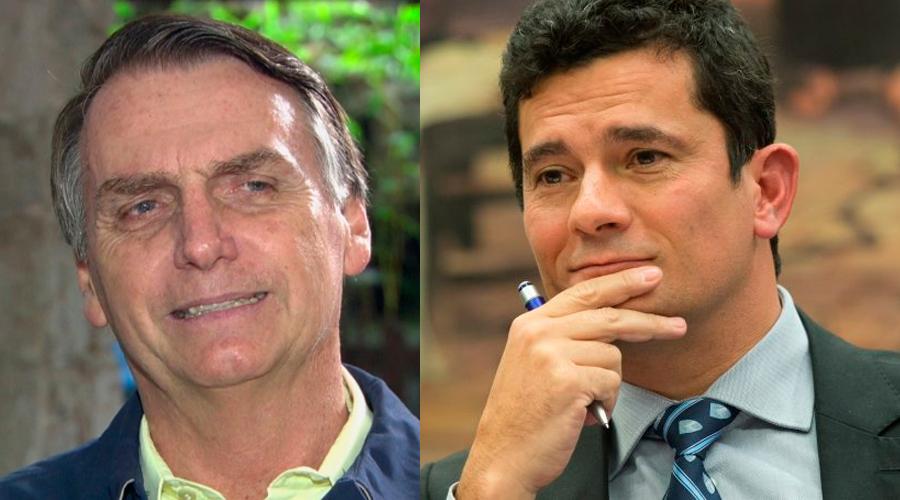 Presidente eleito Jair Bolsonaro e o juiz Sérgio Moro