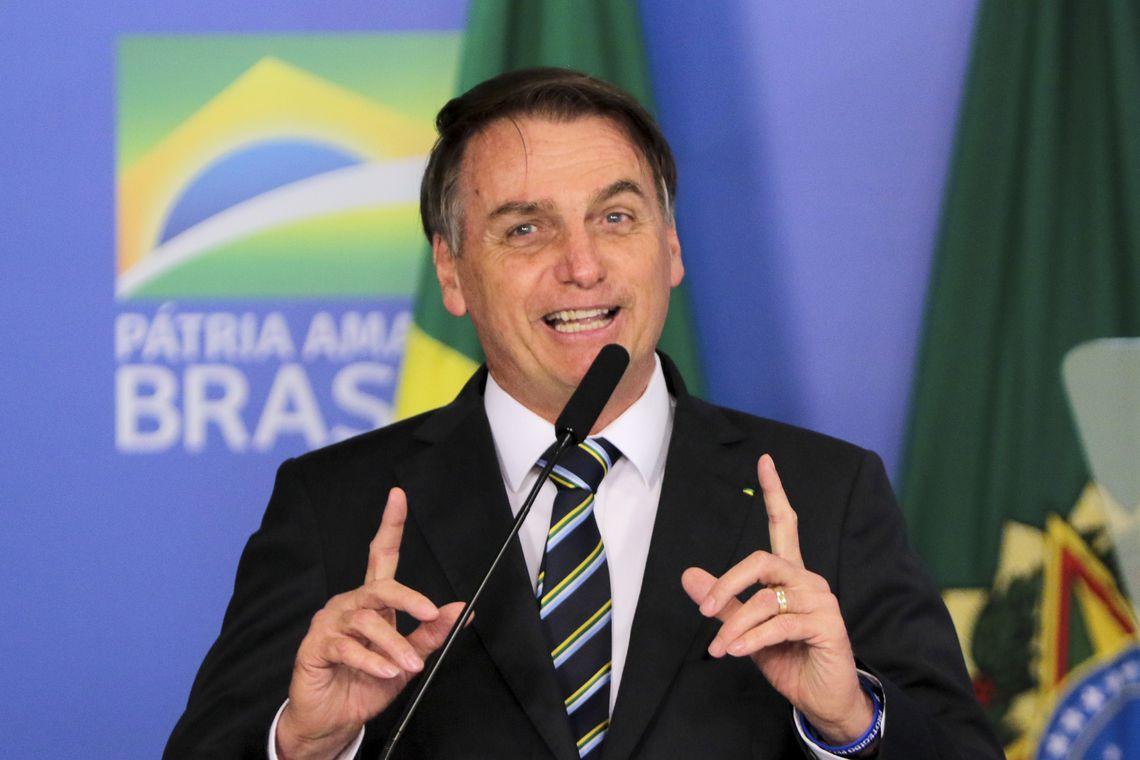 O  presidente Jair Bolsonaro, participa da solenidade de assinatura da medida provisória da liberdade econômica