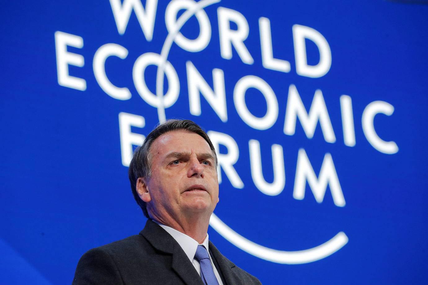 Presidente Bolsonaro em Davos, na Suiça