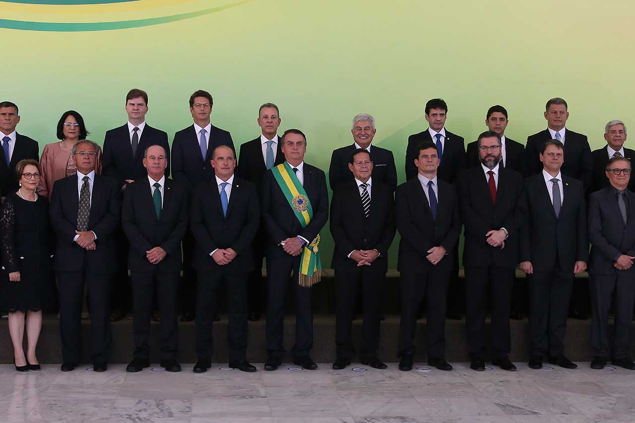 Bolsonaro e seus ministros