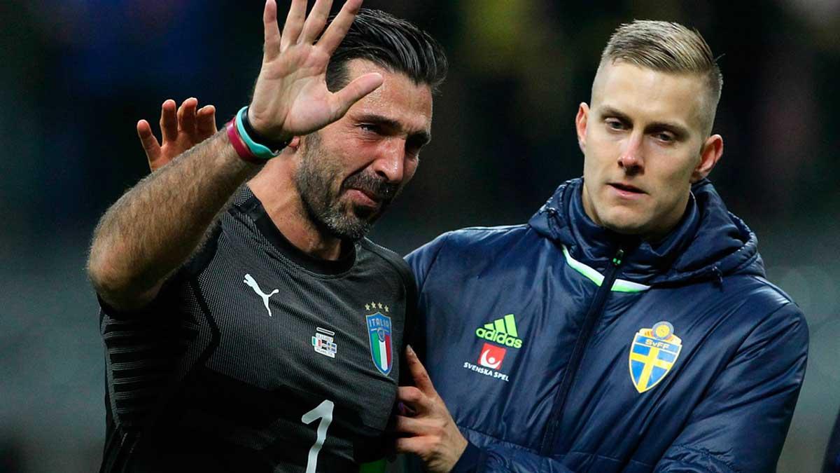 Buffon lamenta a não classificação da Itália para a Copa do Mundo