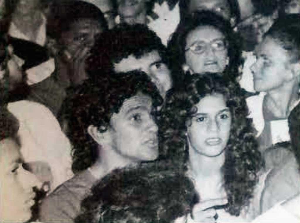Caetano Veloso e Paula Lavigne em 1982 em show de Cazuza