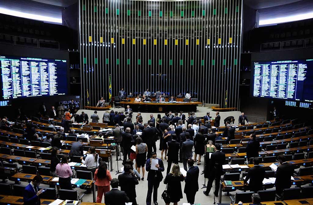 Plenário da Câmara Federal em 21/02/2017