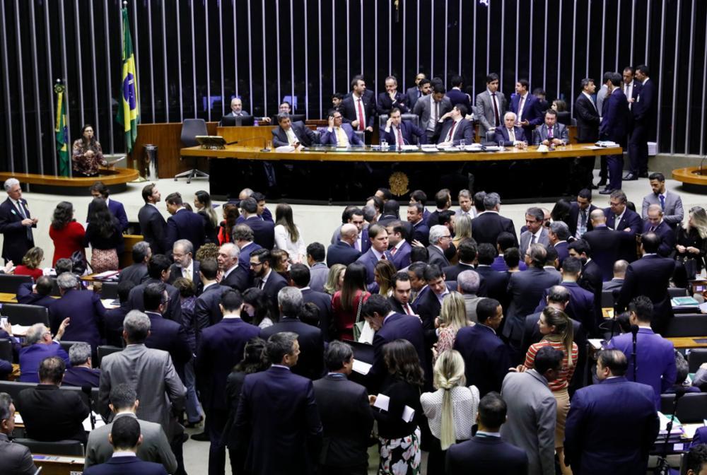 Plenário da Câmara Federal no feriado paulista de 9 de julho