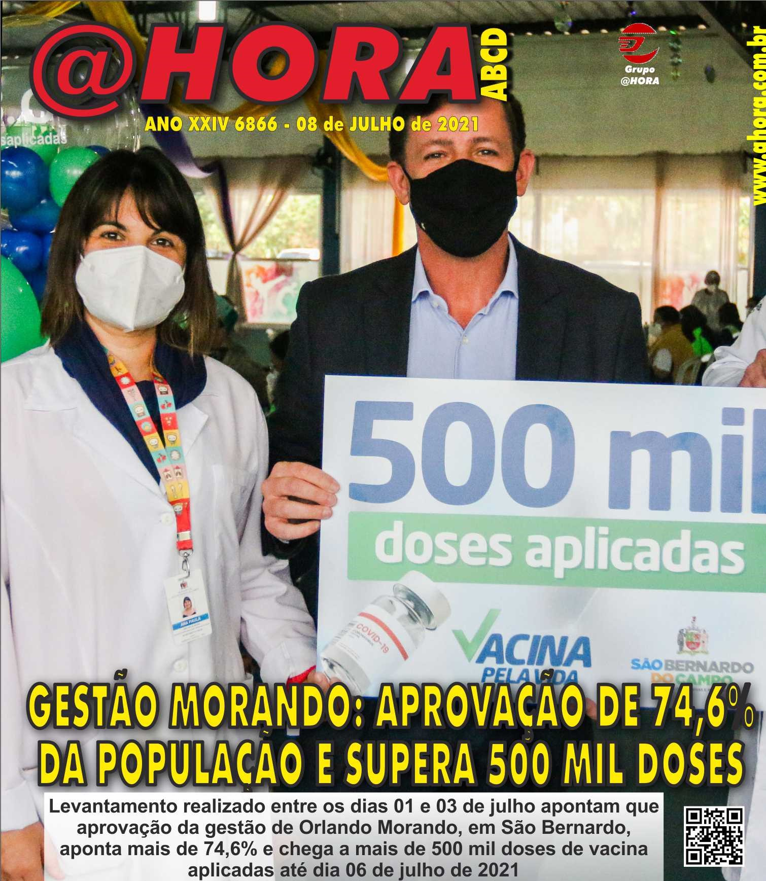 Prefeitura de São Bernardo ultrapassa 500 mil doses aplicadas contra a Covid-19