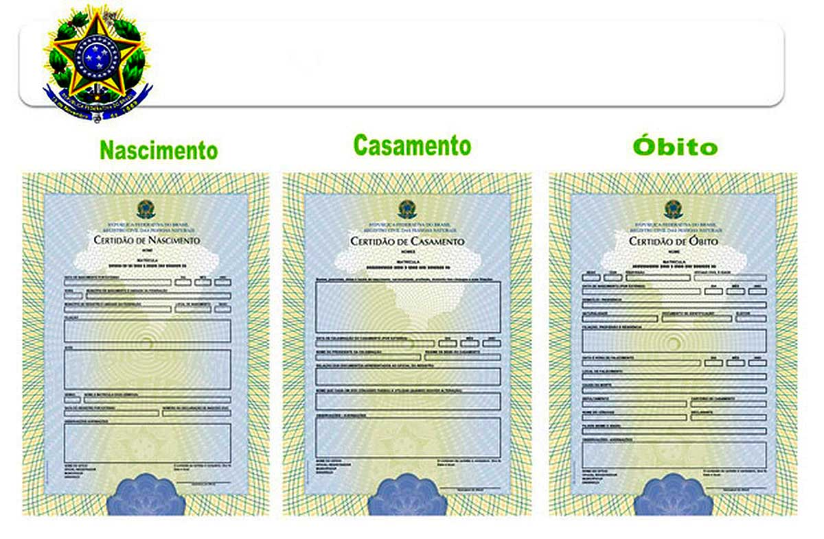 Novos modelos de certidões de nascimento, casamento e óbito definidos pelo Conselho Nacional de Justiça (CNJ)