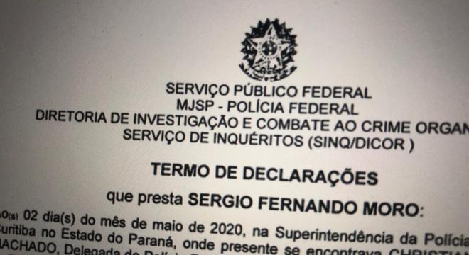 Depoimento de Sérgio Moro na PF