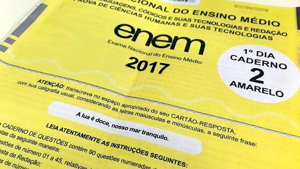 As provas do Exame Nacional do Ensino Médio (Enem) 2017, realizadas nos dias 5 e 12 de novembro