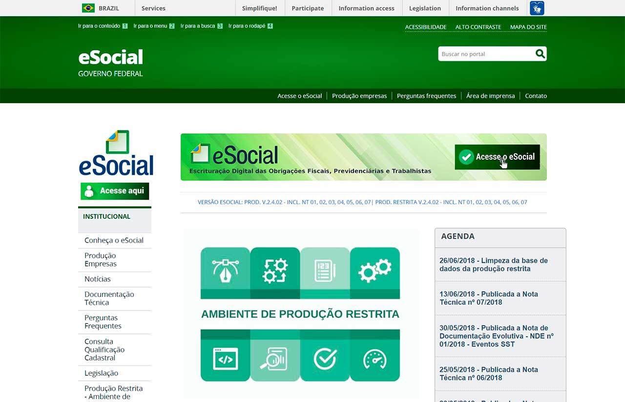 Site eSocial