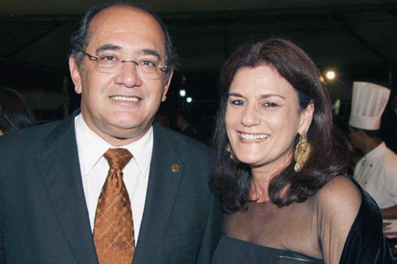 Ministro Gilmar Mendes e a esposa Guiomar Feitosa Mendes