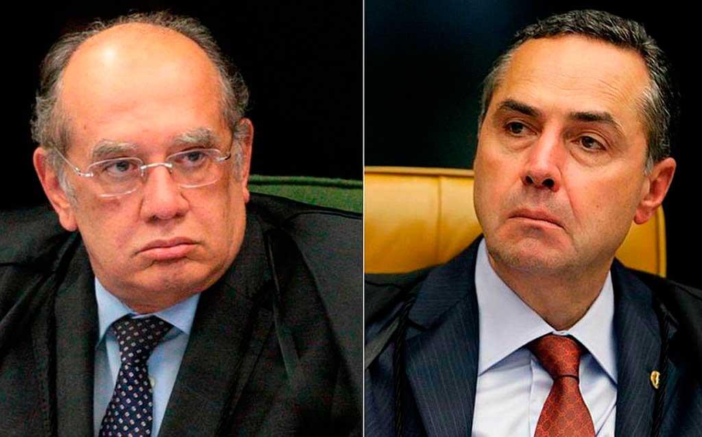 Gilmar Mendes e Roberto Barroso discutem em plenário