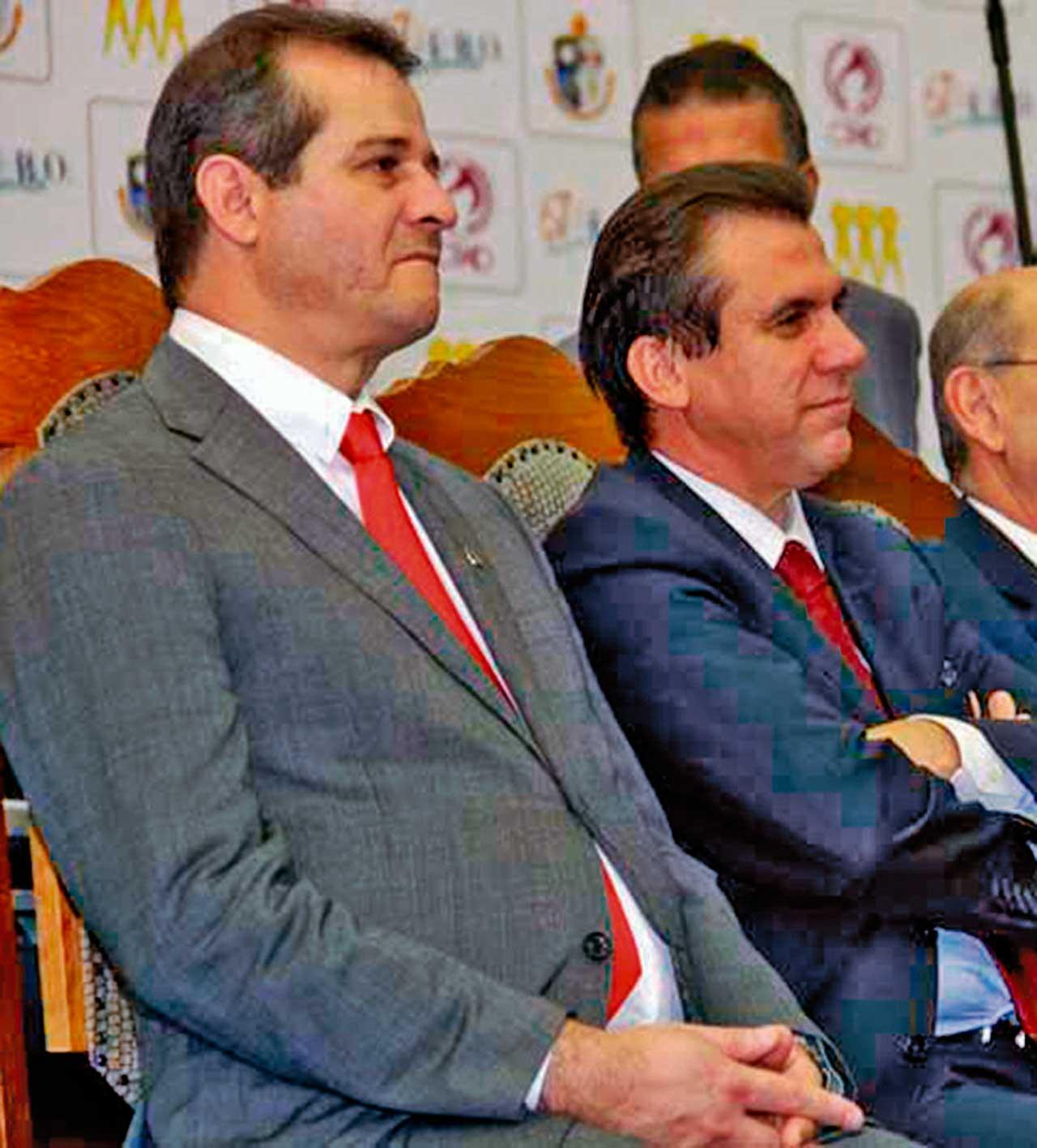 Luiz Fernando (esq) e Luiz Marinho (dir), ambos do PT