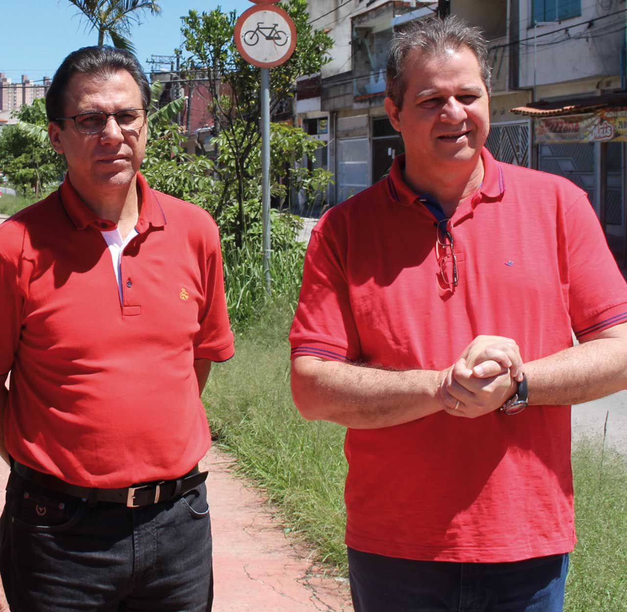 Ex-prefeito Luiz Marinho e o atual deputado estadual Luiz Fernando, ambos do PT