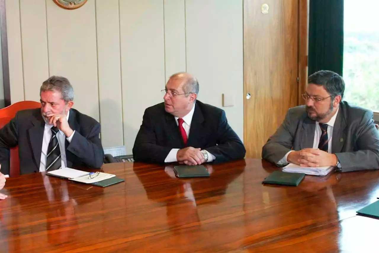 Lula, Paulo Bernardo e Palocci