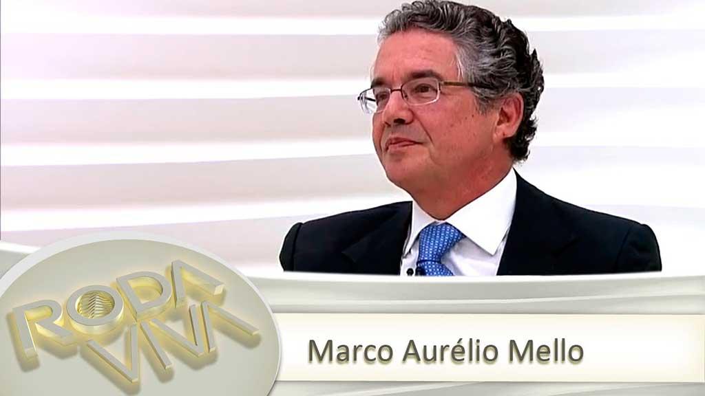 O ministro Marco Aurélio de Mello esteve no programa Roda Viva