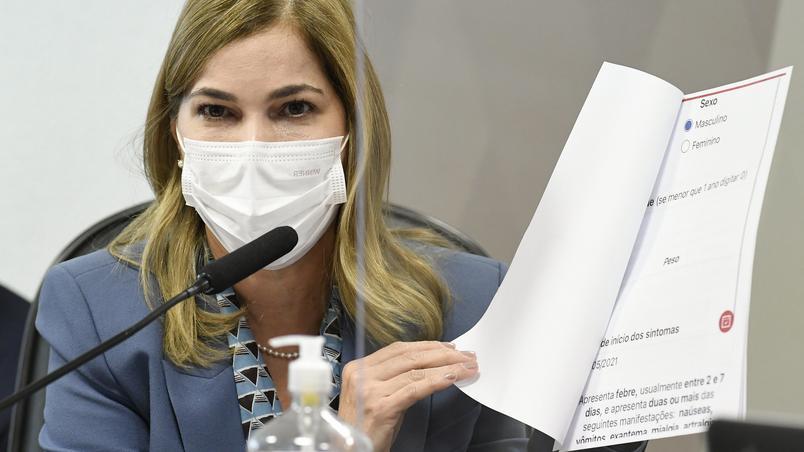 Mayra Pinheiro na CPI dia 25/05/2021