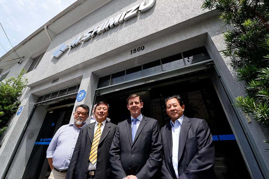 O prefeito de São Bernardo, Orlando Morando, acompanhado pelo secretário de Desenvolvimento Econômico, Trabalho e Turismo, Hiroyuki Minami, esteve na sede da empresa M. Shimizu, na Capita