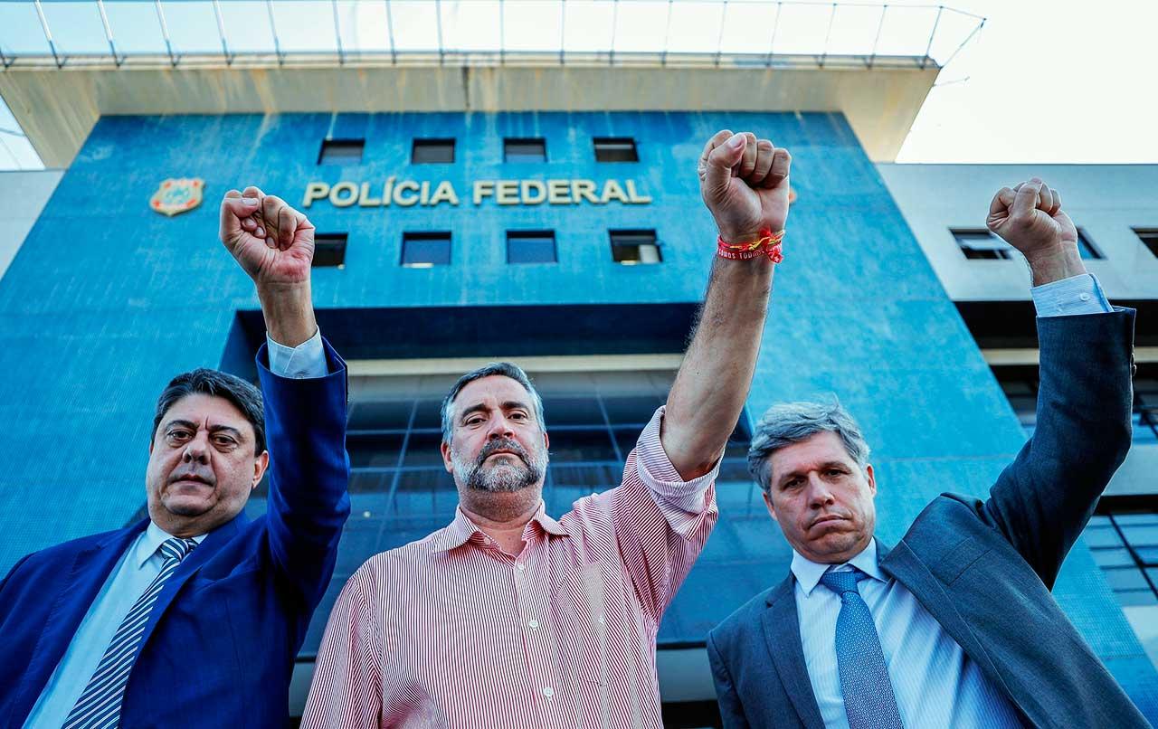 Deputados petistas Paulo Pimenta (RS), Paulo Teixeira (SP) e Wadih Damous (RJ)