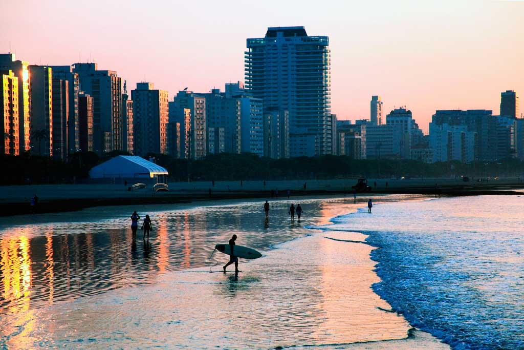 Praias marítimas urbanas de Santos