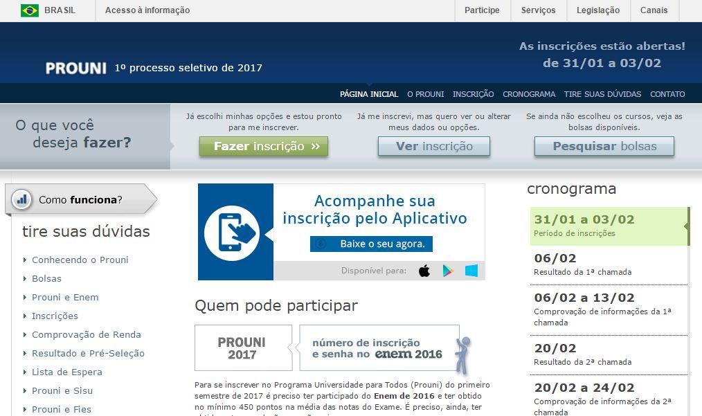 O período de inscrições se encerrará às 23h59, no horário de Brasília, de 3 de fevereiro