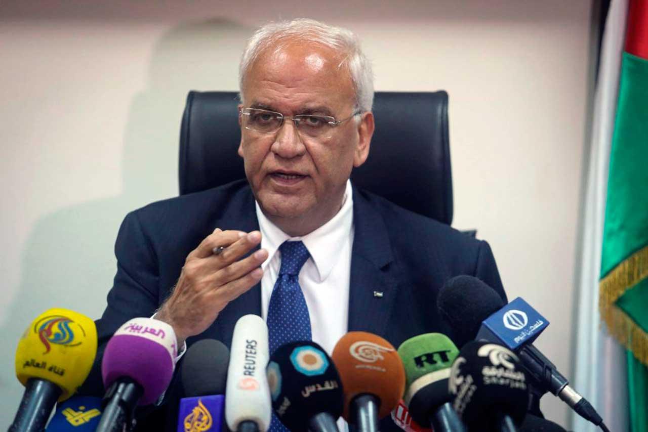 Secretário-geral da Organização para a Liberdade da Palestina (OLP), Saeb Erekat