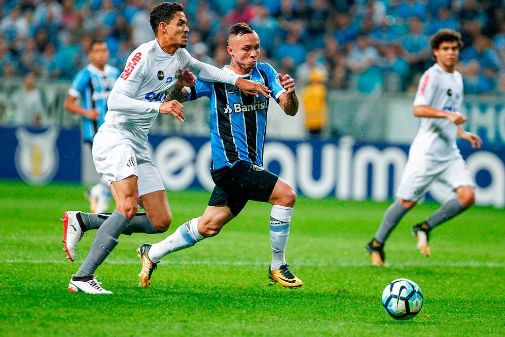 Grêmio e Santos não saíram do 1 a 1 em Porto Alegre