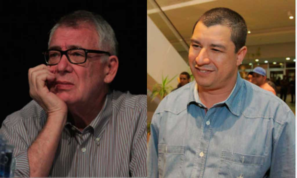 Alfredo Buso, secretário de Obras (esquerda), Osvaldo de Oliveira Neto, secretário de Cultura (direita)
