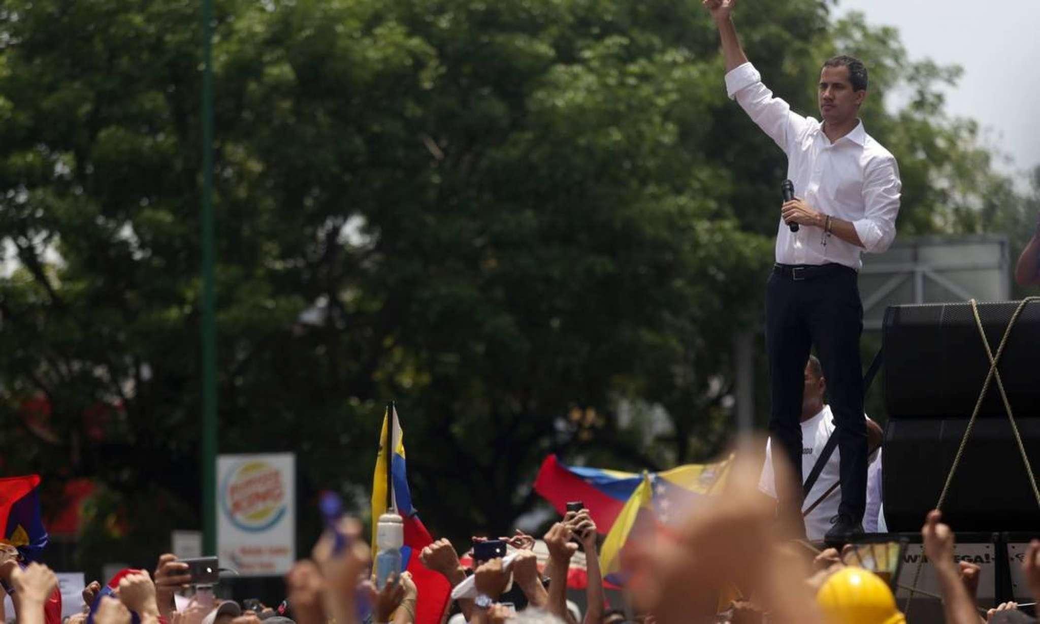 O líder da oposição venezuelana, Juan Guaidó