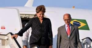 Dilma Rousseff ao lado de José Martins Felício em Havana, em janeiro de 2012
