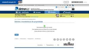 Cópia de documento encaminhado pelo Detran após usuário enviar toda a documentação solicitada